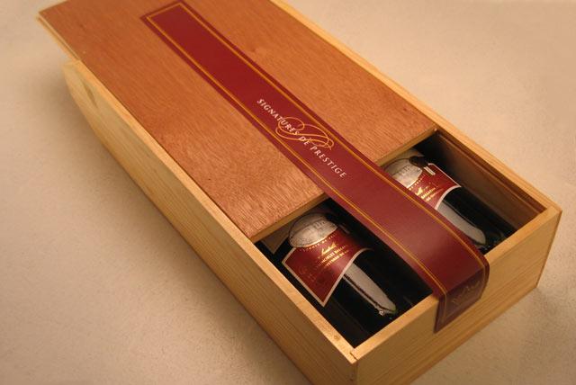 Coffret bois 2 bouteilles à partir de 10€ HT